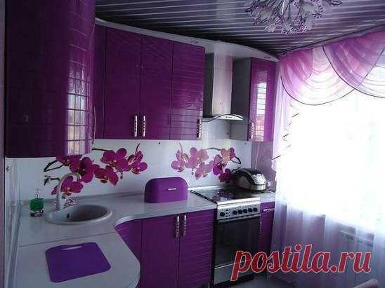 кухня в фиолетовых тонах дизайн фото