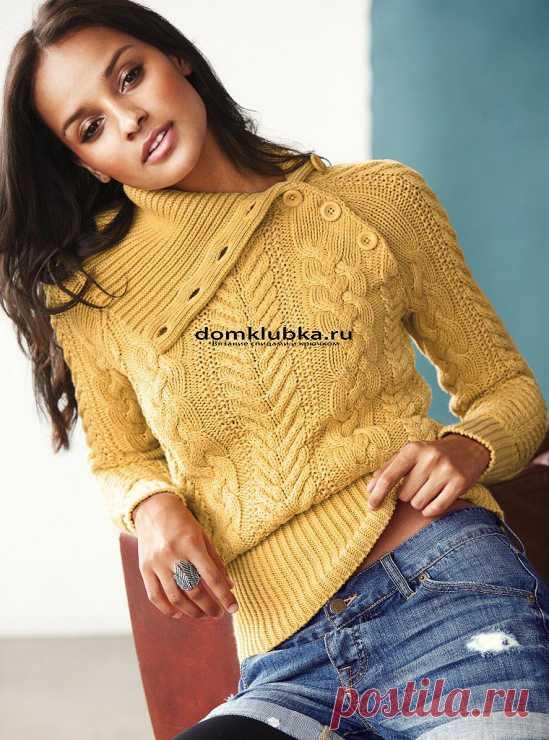 Стильный женский свитер: техника вязания, виды узоров