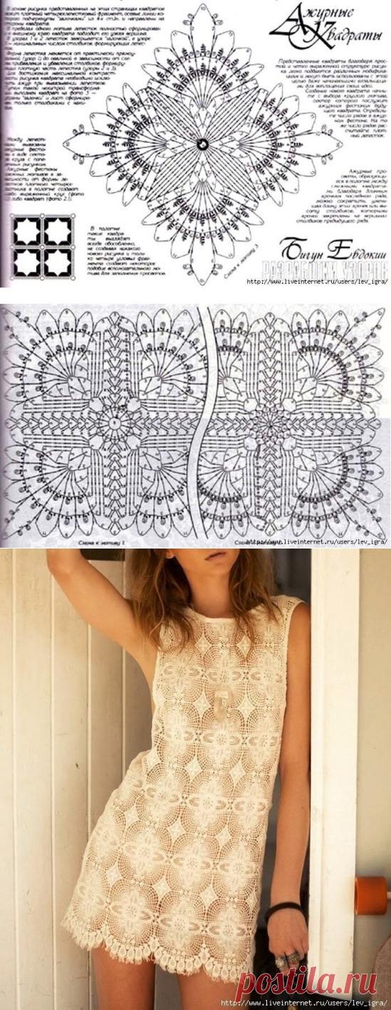 Изысканное платье: очень красивый необычный мотив — Сделай сам, идеи для творчества - DIY Ideas