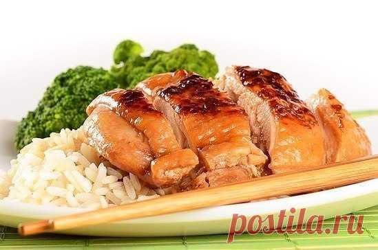 курочка по японскому рецепту с медом и соевым соусом (рецепт по клику на картинку)