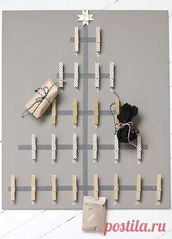 Ёлочный календарь (DIY) / Декор стен / Модный сайт о стильной переделке одежды и интерьера