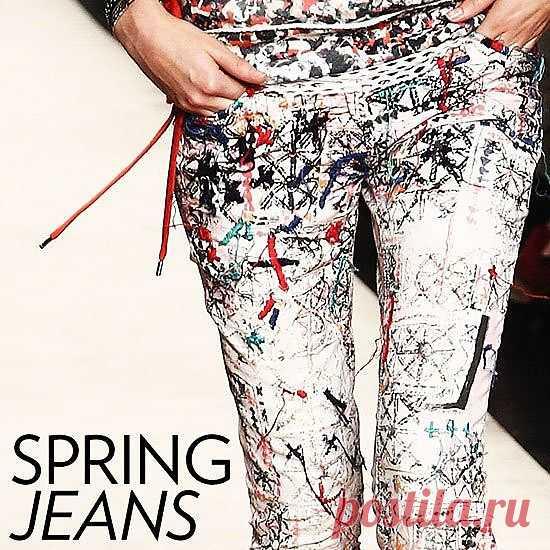 Хаотично вышитые джинсы / Вышивка / Модный сайт о стильной переделке одежды и интерьера