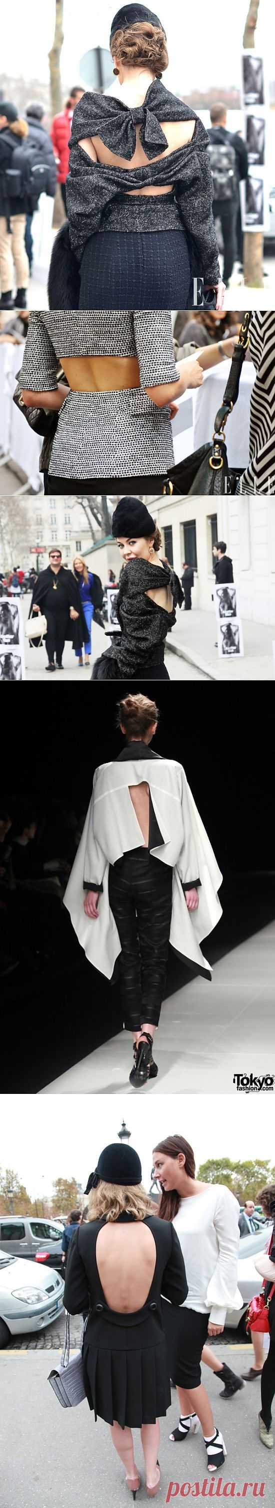 В спинку не дует? / Декор спины / Модный сайт о стильной переделке одежды и интерьера