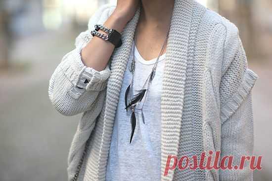 Браслет - кожа и цепочки / Украшения и бижутерия / Модный сайт о стильной переделке одежды и интерьера