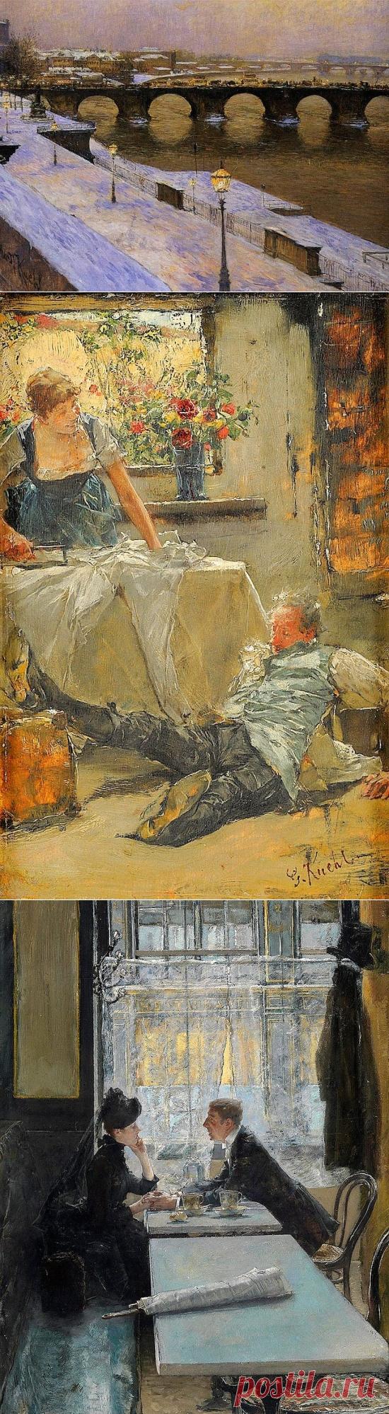 Художник Готхард Кюль (Gotthardt Kuehl). Картины