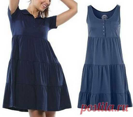 Выкройка летнего женского платья. Размеры евро от 36 до 52
