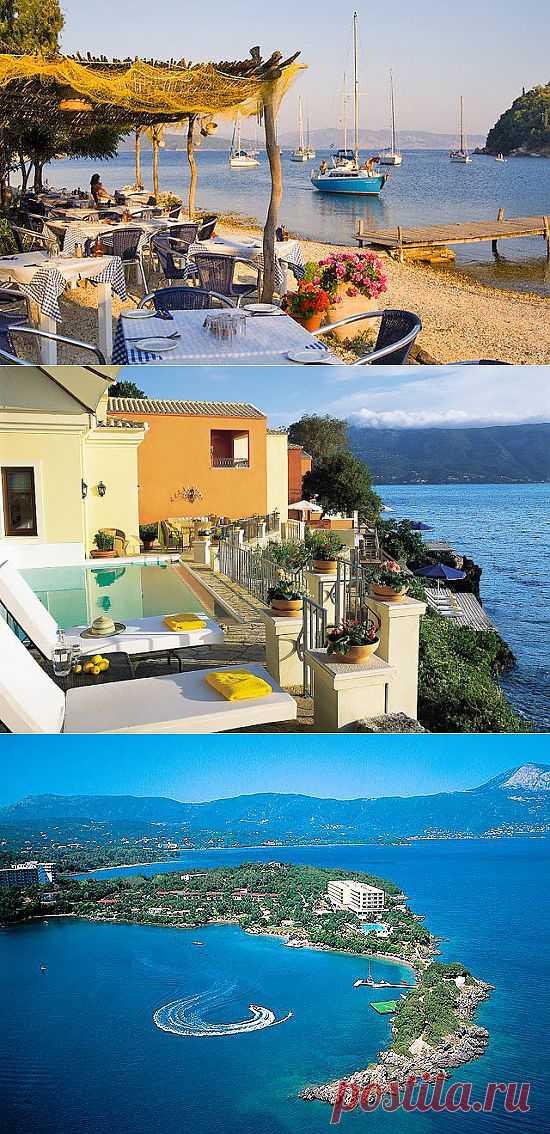 Вдоль всего побережья расположились уютные отели и пансионы, где ежегодно тысячи людей проводят свой отпуск. Здесь отличные места для занятий водными видами спорта: серфинг, виндсерфинг, дайвинг, прогулки на каноэ, катамаранах и катерах. Остров Корфу, Греция