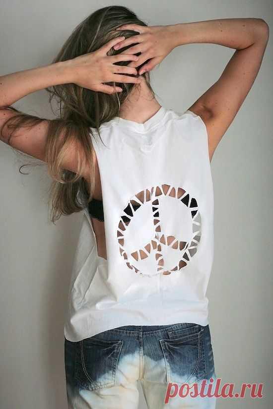 Пацифисты наступают (Diy) / Прорези / Модный сайт о стильной переделке одежды и интерьера