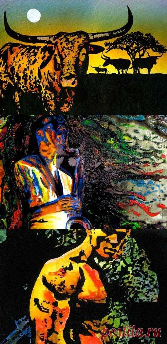 Художник Джон Брамблитт никогда не видел своих работ, а до утраты зрения даже никогда не рисовал