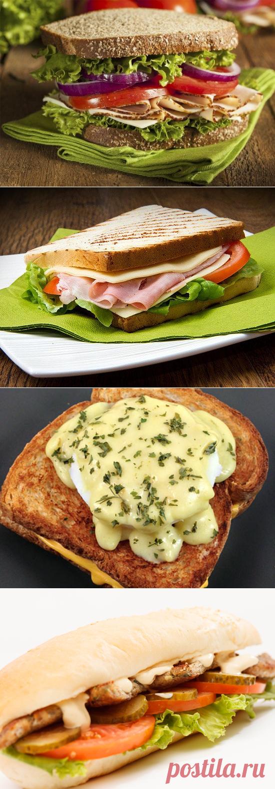 5 простых рецептов сэндвичей на завтрак