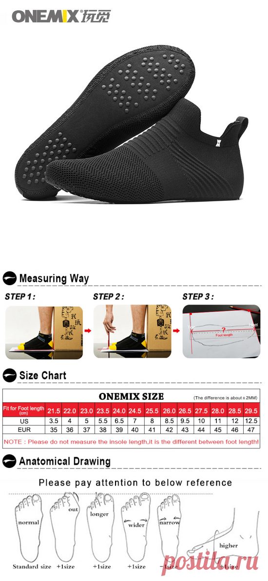 Promotion Black/Gray/White Boots ONEMIX Winter Snow Men's Shoes