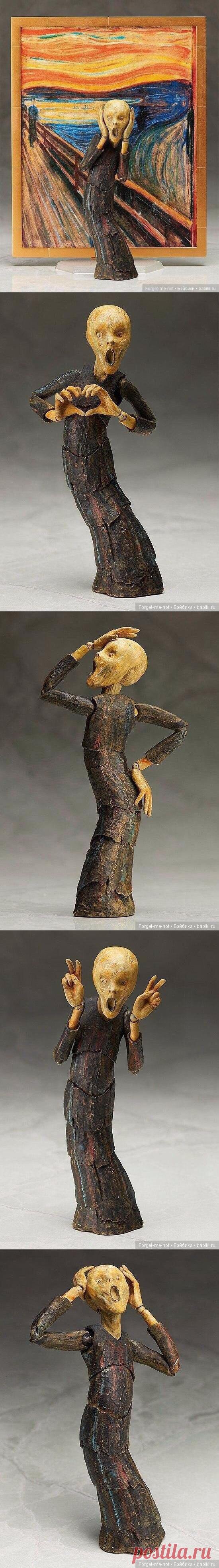 Подвижная скульптура сделанная по картине Мунка / Figma, Фигма фигурки / Бэйбики. Куклы фото. Одежда для кукол