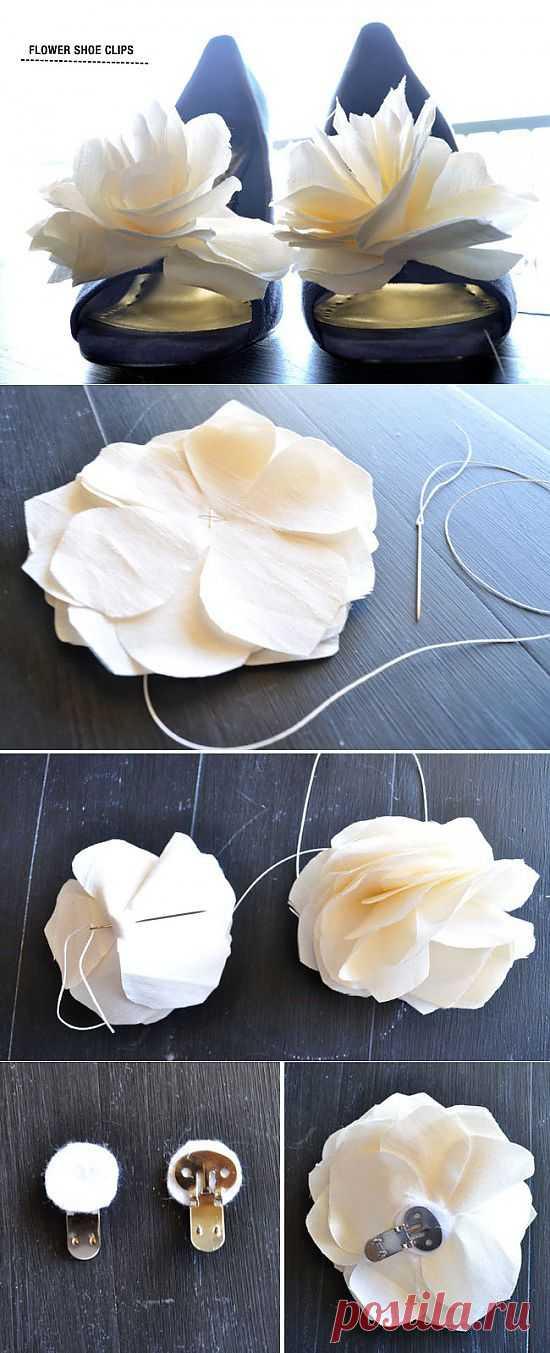 Как сделать клипсы на туфли: банты из ленты и цветок из ткани | Prosvadby.com