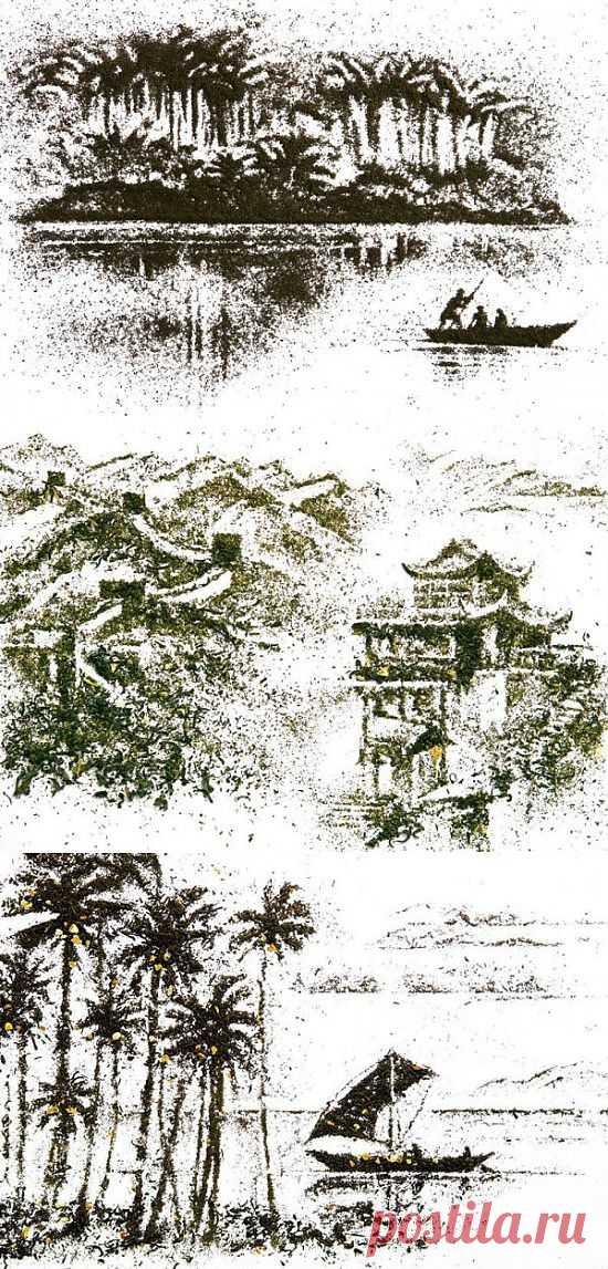 Dried Tea Leaf Paintings (9 Photos)   FunCage