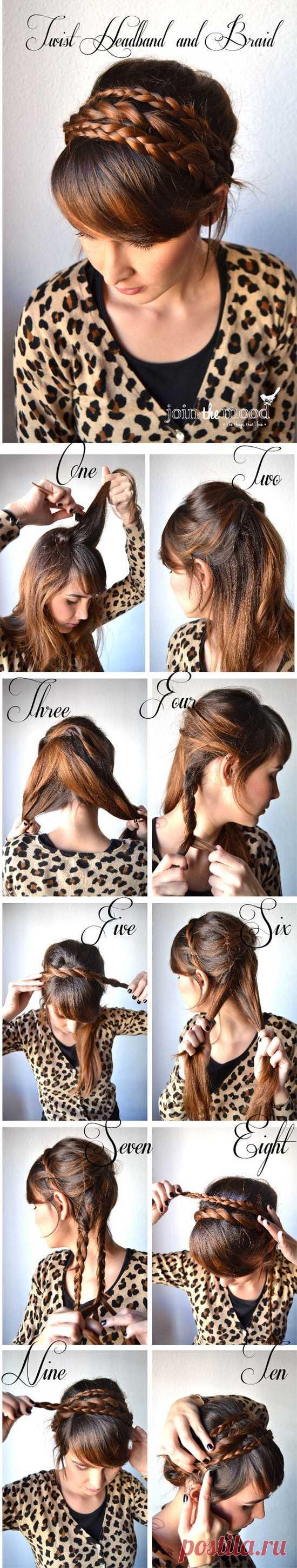 El peinado simple y hermoso