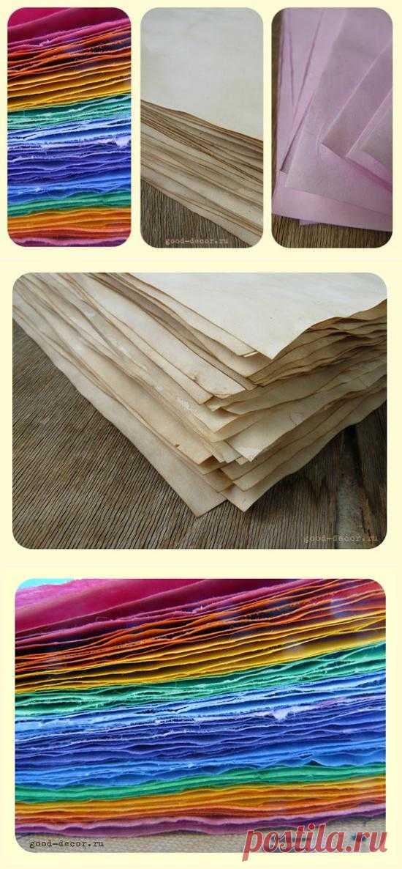 Как покрасить бумагу чаем, кофе, акварелью и пищевыми красителями