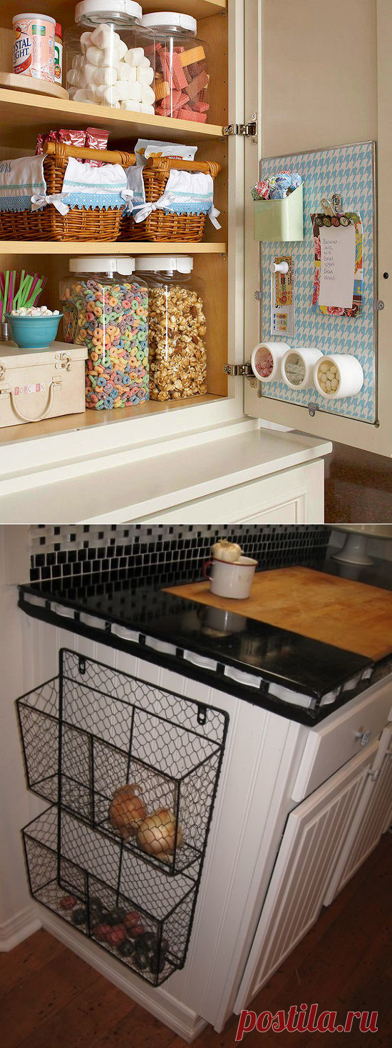 10 places of storage in kitchen about which you did not know or forgot | Fresh ideas of interior design, decor, architecture on INMYROOM
