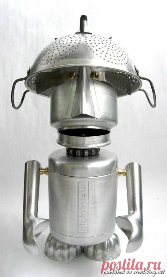 Las esculturas entretenidas de los utensilios de cocina