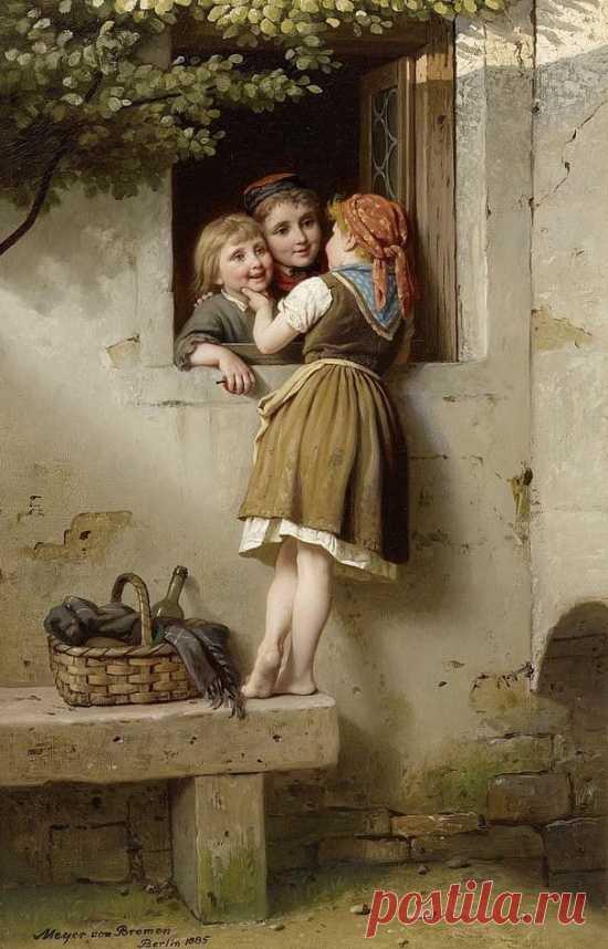 Художник Johann Georg Meyer von Bremen (1813-1886). Летопись простой жизни