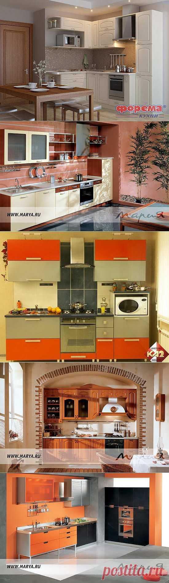 Кухонные гарнитуры для маленькой кухни - фото