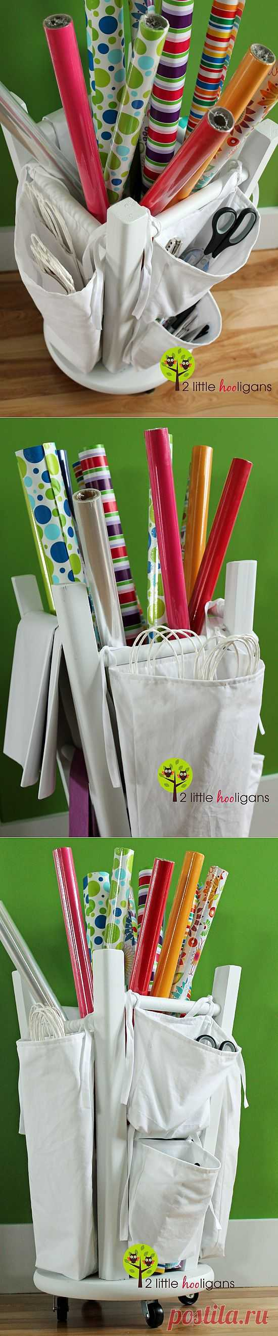 Организованное хранение упаковочной бумаги / Организованное хранение / Модный сайт о стильной переделке одежды и интерьера