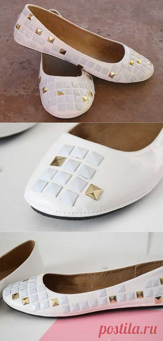 Обувь с клепками (DIY) / Обувь / Модный сайт о стильной переделке одежды и интерьера