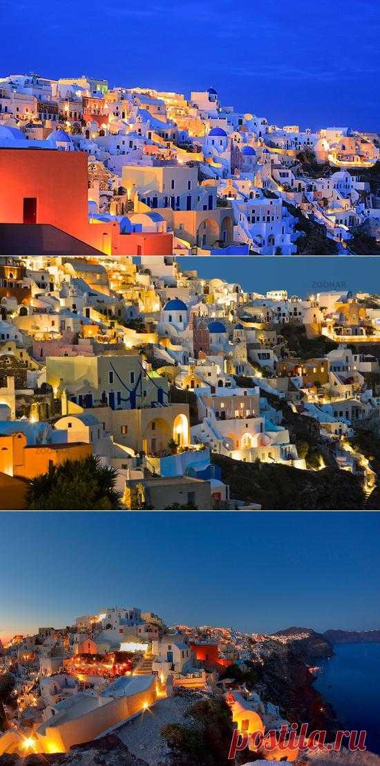 Фира и Ойя - это греческие города, расположенные на архипелаге Санторини, состоящем из ряда островов вулканического происхождения. Почва на островах чрезвычайно бедна; растительности фактически нет, разве что виноградную лозу местные жители разводят. Греция