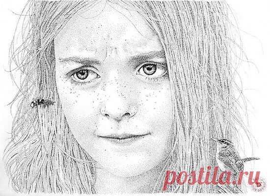 Портреты из черных точек от Пабло Руиса Хурадо