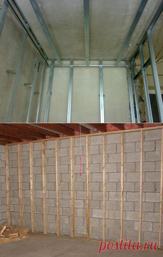 Монтаж гипсокартона на стены своими руками. Подробный разбор|   Гипсокартон получил широкое распространение как отделочный материал, способный выровнять или замаскировать недостатки стен, изменить геометрию помещения и реализовать любые дизайнерские идеи. Ключевым вопросом при использовании гипсокартона является метод его монтажа. Разные способы крепления подходят для различных типов стен, различаются по сложности, трудозатратам и стоимости.