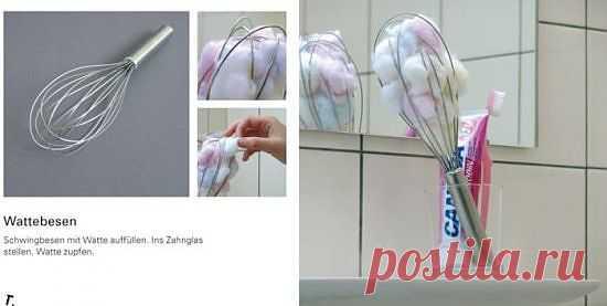 Удобная емкость для ватных шариков и не только.