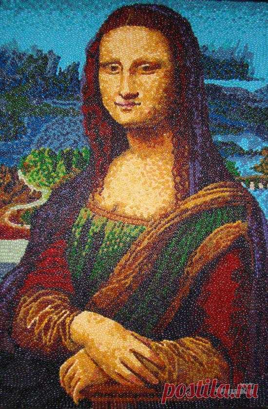 Картины из конфет-драже. (11 фото) - Fishki.Net | Сайт хорошего настроения