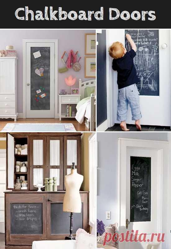 Идея сделать дверь - доску для рисования.