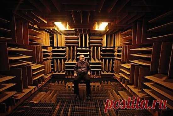 Эта комната - самое тихое место в мире. После её посещения, внешний шум перестанет Вас раздражать, скорее, наоборот, начнёт радовать:)
