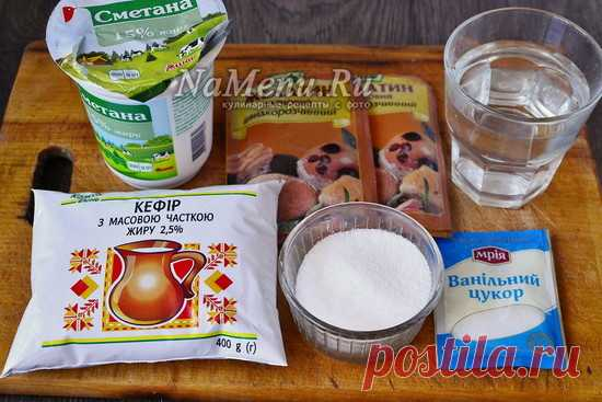 Zephyr from kefir in house conditions, the recipe with a photo