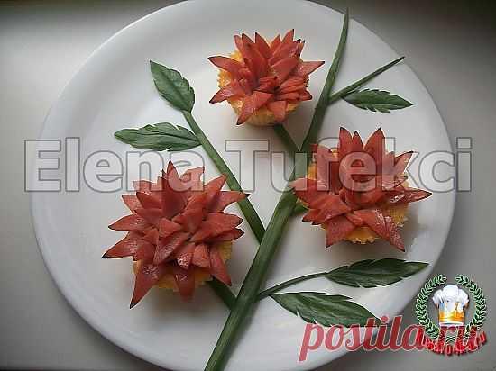 Закусочные кексы Хризантемы