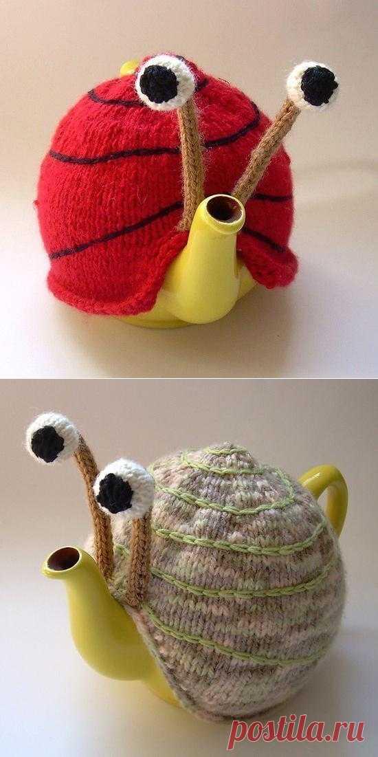 Улитка - грелка на чайник.