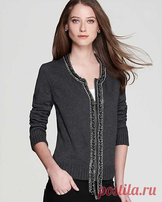 Кардиган с цепями от MICHAEL Michael Kors / Свитер / Модный сайт о стильной переделке одежды и интерьера