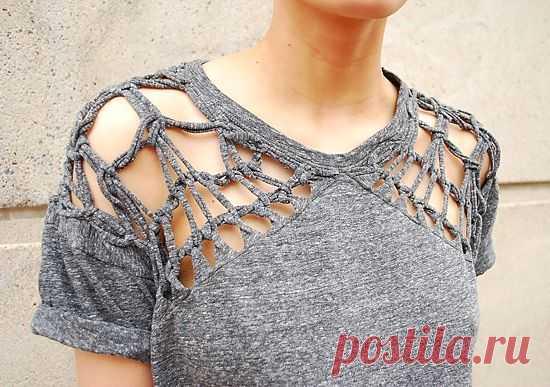 Переплетенная футболка Isabel Marant / Футболки DIY / Модный сайт о стильной переделке одежды и интерьера