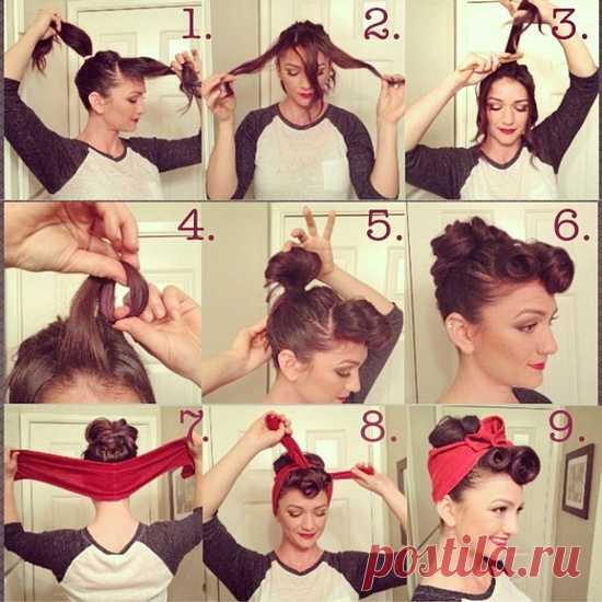 Узнаваемый стиль pin-up!:) Не знаю, как на каждый день, но идея интересна, а исполнение простое!