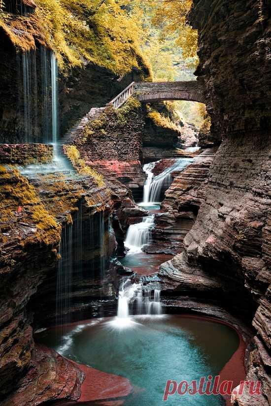 Природный шедевр! Воткинс Глен Стейт Парк, США