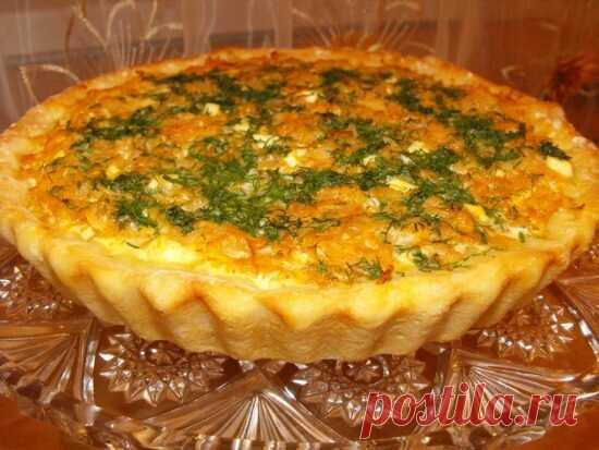Открытый пирог с капустой и яйцом в духовке
