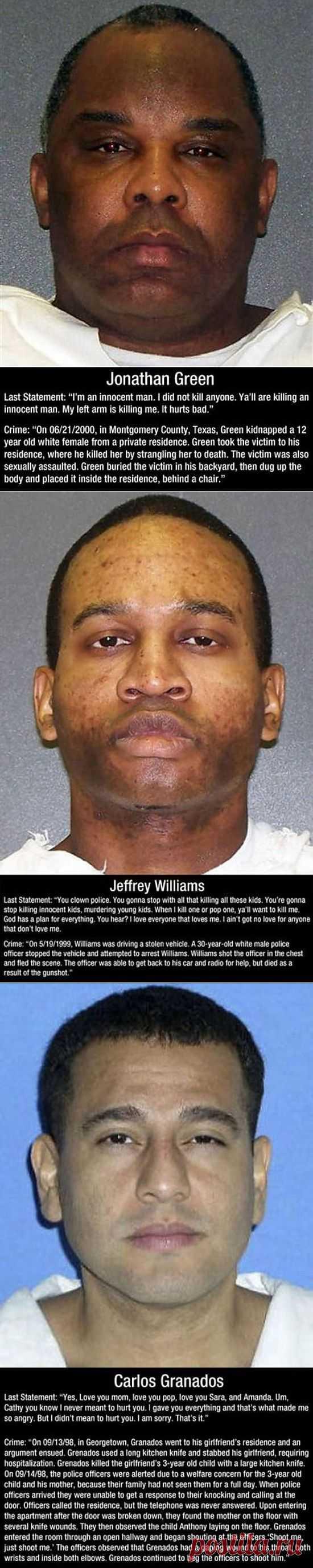 The Last Words Said by Death Row Inmates (10 Photos) | FunCage