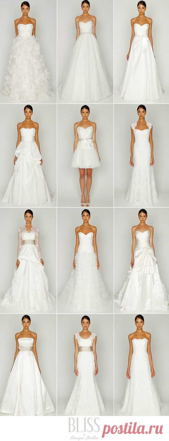 Разнообразие свадебных платьев