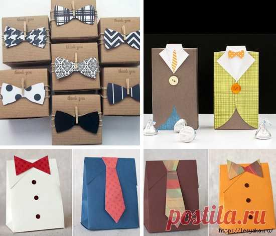 7 способов красиво упаковать подарок мужчине своими руками!