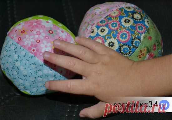 Мягкий мячик из ткани своими руками: шьем игрушку для малыша