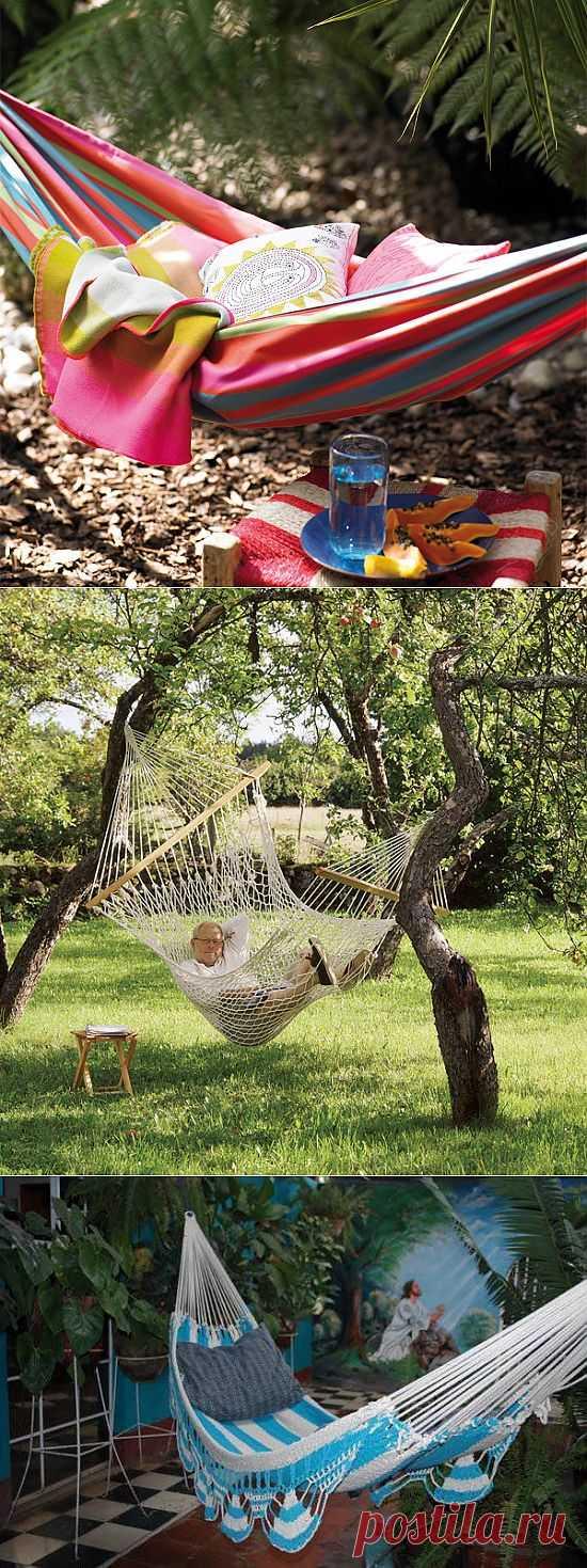 На волне сиесты: как выбрать удобный гамак для сада и веранды + 48 примеров   Дизайн-Ремонт.инфо. Фото интерьеров. Идеи для дома.