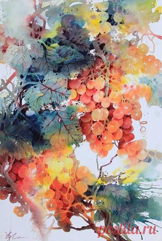 Яркий сказочный мир в акварелях Лиана Цюань Чжэня.. - Искусство - медиаплатформа МирТесен