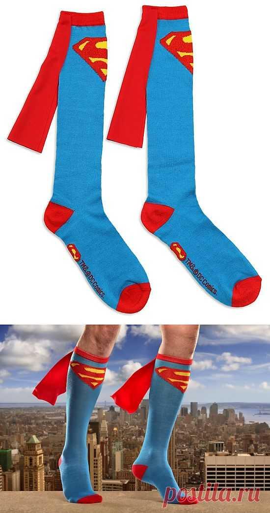 Носки супермена / Носки, колготки, леггинсы / Модный сайт о стильной переделке одежды и интерьера