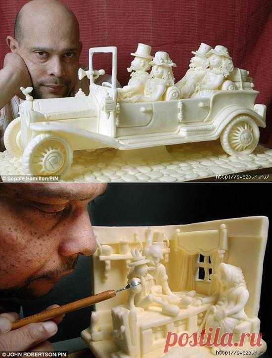 Випула Атукорал не скульптор, а шеф-повар. Но, он создает поистине шедевральные скульптурные композиции из масла.