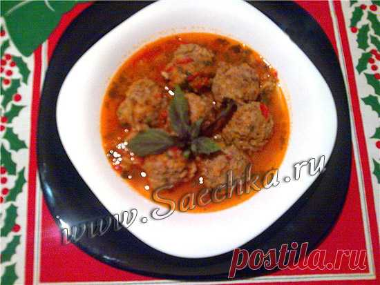Гупта - рецепт с фото Гупта - рецепт грузинской кухни; блюдо представляет из себя суп с тефтелями.